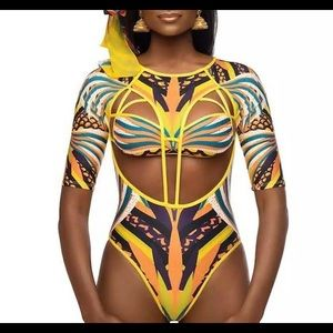 Other - Tribal print one piece swimsuit